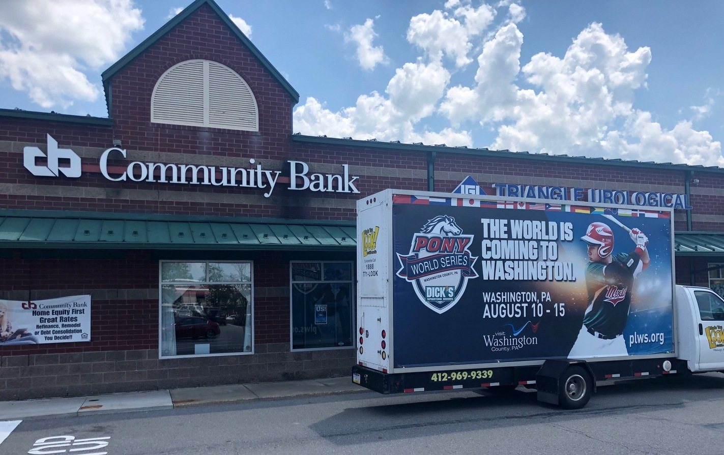 Community Bank... Proud To Sponsor Dick's Sporting Goods Pony League World Series
